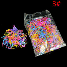 1000Pcs Mix Color Baby Girls Rubber Hair Bands Holders Elastics Tie Gum Supply