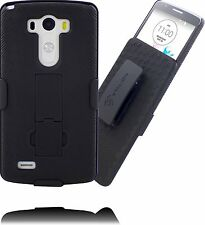 Stalion® Secure Belt Clip Holster & Shell Case Combo with Kickstand for LG G3