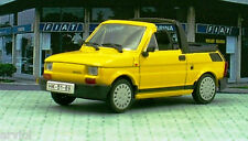 FIAT 126 P CABRIO yellow ( 1991 ) -- 1/43 -- IXO/IST -- NEW