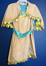New Disney Store POCAHONTAS Costume Dress & Cape Girls Size L 9/10
