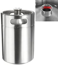 5L Stainless Steel Mini Keg Growler Home Brew Style Brewing Bottle