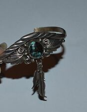 KEYONNIE BEGAY NATIVE AMERICAN STERLING SILVER TURQUOISE DREAM CATCHER BRACELET