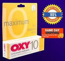 OXY 10 Acne Pimple Treatment 10% Benzoyl Peroxide25g Maximum Strength Fast Post!