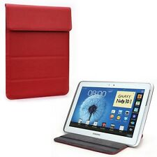 "Red Faux Leather Wrapper Pouch Pocket Cover for iPad Smart Tablet 9"" 9.7"" inch"