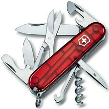 1.3703.T Victorinox Swiss Army Pocket Knife CLIMBER RED TRANSLUCENT 13703T