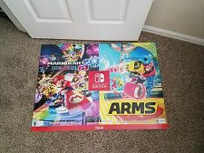 MARIO KART 8 DELUXE RARE Nintendo Switch Poster ARMS Store Display