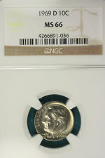 1969-D NGC MS66 Roosevelt Dime!! #ZF