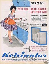 Publicité Advertising 056 1961 Kelvinator frigidaire par Jean Bellus