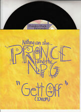 "PRINCE Gett Off & Horny Pony PICTURE SLEEVE 7"" 45 rpm + juke box title strip"