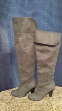 Restricted Boot Leather Sock Over the Knee Boot Gray Women's Size 8.5 M NWOT