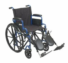 Drive Medical BLS18FBD-ELR Blue Streak Wheelchair, Flip Back Desk Arms & LegRest