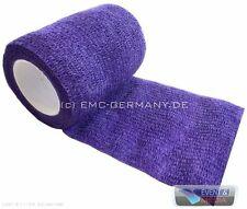 Haft Bandage 7,5cm x 4,5m Violett Easy Flex VET Binde Tier Verband Haftbandage