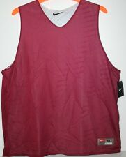 NIKE TRAINING BASKETBALL DOUBLE LAYER JERSEY  MEN EXTRA LARGE MAROON XL