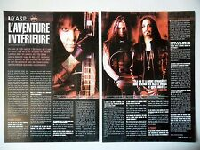 COUPURE DE PRESSE-CLIPPING :  WASP [2pages] 07/2004 Blackie Lawless,The Neon God
