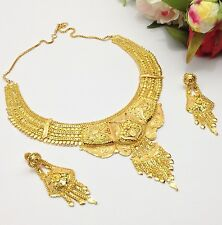 Indian Asian Bridal Jewellery Ethnic Wear 22ct Gold Plated Necklace Set