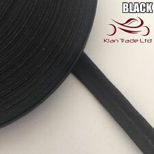 13mm X 25 meter - BLACK BIAS BINDING COTTON TAPE. WEBBING BINDING TRIM EDGE