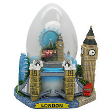 London große Schneekugel Big Ben Eye,Guards,England Snowglobe Eiform !!!