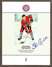 """1990 Provincial Papers Promo """"The Face-Off"""" Stan Mikita, Art by Heather Cooper"""