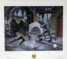 BATMAN RETURNS DANGEROUS GAME Of CAT & BAT LTD ED #248 PRINT Bob Kane Catwoman