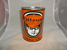 OILZUM MOTOR OIL TIN QUART CAN COIN BANK / WHITE & BAGLY CO.
