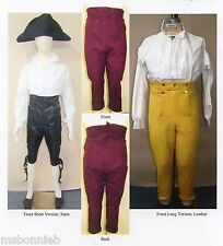 Mens Narrow Fall Front Breeches Pants 1790-1820 Laughing Moon Sewing Pattern 127
