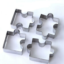Cutters Baking Biscuit Moulds Puzzle Stainless Steel Cakes Tools Cookies 4PCS