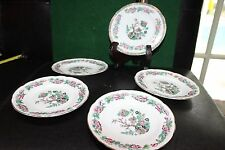 MONTFORT BILTONS STAFFORDSHIRE + PALL MALL ENGLAND 5 PLATES BEAUTIFUL