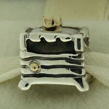 Authentic Pandora 790320 Princess And The Pea 14K Gold Sterling Silv Bead Charm
