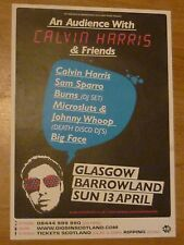 Calvin Harris + Sam Sparro... Glasgow april 2008 tour concert gig poster