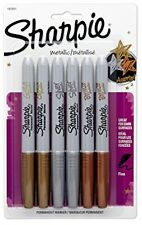 Sharpie Metallic Permanent Markers Fine Point Gold Silver Bronze 6 Pack - NO TAX