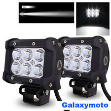 "2x 4"" Cree White 6 LED 18w Spot Beam Adjustable Off Road Roof/Work Light bar"