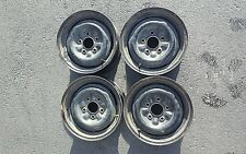 1967 68 69 GM CHEVY OLDS PONTIAC BUICK 14 inch STEEL RIMS  WHEELS SET 4 chevelle