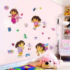 Dora the Explorer Boots Monkey Wall sticker Decals Girls Kids Bedroom Decor WS