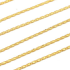 18K Yellow Gold Filled Womens korean jewelry 17.32'' long Necklace Chain