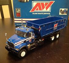 FIRST GEAR ALLIED WASTE MACK GRANITE ROLL OFF CONTAINER TRUCK 1/34 - No Reserve
