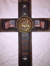 """US Army Cross Home Decor Wall Decoration Very Detailed 7""""x12""""- New In Box"""