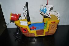 2005 Fisher Price Little People Lil' PIRATE SHIP Boat GREAT ADVENTURES USED