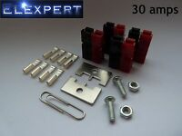 8 X ANDERSON POWERPOLE 30AMP ELECTRICAL CONNECTOR PANEL MOUNT KIT FOR KIT CAR_RC