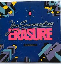 "Erasure - You Surround Me - Mute Records 7"" Picture Sleeve Single MUTE 99 EX/VG+"