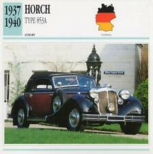 1937-1940 HORCH TYPE 853A Classic Car Photograph / Information Maxi Card
