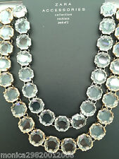 ZARA CRYSTAL JEWEL NECKLACE SS16 NEW 100% GENUINE AND AUTHENTIC REF 4736 010