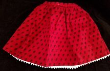 AMERICAN GIRL Josefina's Meet Outfit Deep Red Skirt Dotted Tiny Flowers