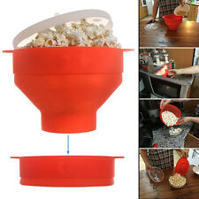 Food Grade Silicone BPA Free Microwave Popcorn Popper Maker with Handles Lid