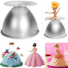"8"" Barbie Princess Cake Pan Mold Doll Dress Fondant Sugarcraft Bake Decorate DIY"
