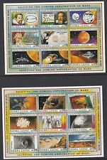 Sierra leone: 1990 exploration de mars set + m/s (2) SG1380-1415+MS1416 nmh