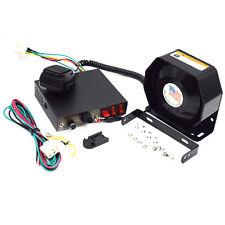 200W 8 Sound Loud Warn Alarm Police Fire Siren Horn PA Speaker MIC System Handy