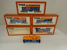 5 Vintage Tyco VIA Canadian National HO Scale Caboose Bodies New in boxes