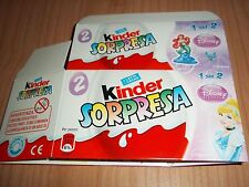 TEST 2-PACK VUOTO DISNEY PRINCESS KINDER ITALIA 2013/2014 PRINCIPESSE DISNEY