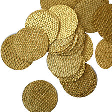 30mm ROUND SEQUIN PAILLETTES ~ GOLD Nugget Snakeskin Embossed ~  Made in USA