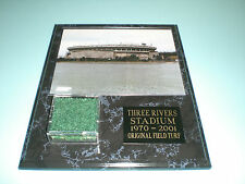 PITTSBURGH STEELERS PIRATES THREE RIVERS STADIUM TURF PLAQUE